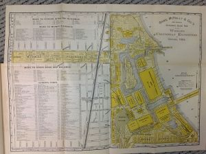 Map 1893 World's Columbian Exposition Rand, McNally &Co.