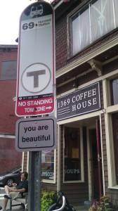 Boston bus stop