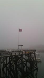 Flag in the fog