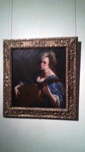 """Self-Portrait as a Lute Player"" lent by Wadsworth Atheneum Museum of Art, Hartford CT."