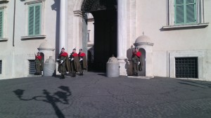 Unrelated - caught the Changing of the Guard on the way to the exhibit...