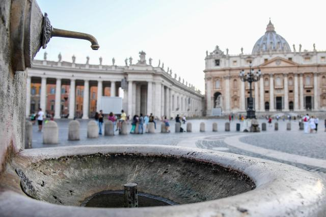 rome Vatican fountain